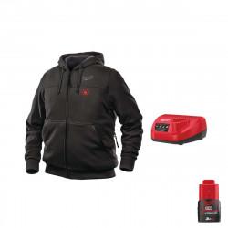 Sweat chauffant Milwaukee Noir M12 HHBL3-0 Taille L 4933464348 - Chargeur de batterie 12V M12 C12 C - Batterie M12 12V 3.0Ah
