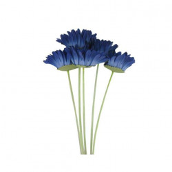 Bouquet artificielle gerbera bleu 5 tiges 73cm