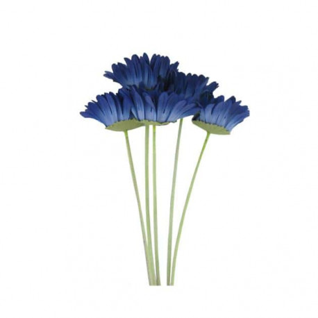 Bouquet artificielle gerbera bleu 5 tiges 73cm