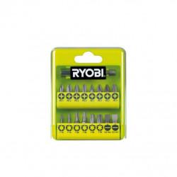 Coffret RYOBI 17 accessoires de vissage philips - plat - pozidriv - torx RAK17SD