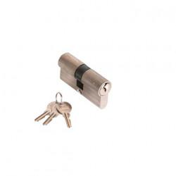 Cylindre nickelé 30 x 30 mm avec 3 clés Klose Besser