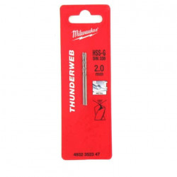 Pack de 2 Forets métal MILWAUKEE HSS-G THUNDERWEB 2.0 X 49MM 4932352347