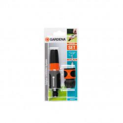 """Kit d'arrosage tuyaux 13 mm 1/2"""" - 15 mm 5/8"""" - 1 lance d'arrosage - 1 raccord d'arrosage Aquastop GARDENA - 18288-20"""