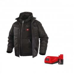Blouson chauffant noir Milwaukee taille L M12 HJ 3IN1-0 4933451623 - Batterie M12 2.0Ah et chargeur C12C 4933451900