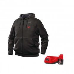 Sweat chauffant noir Milwaukee M12 HH BL2-0 Taille M 4933451612 - Batterie M12 2.0Ah et chargeur C12C 4933451900