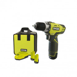 Perceuse-visseuse compacte RYOBI 12V Lithium-ion - 2 batteries 1.3Ah - 1 chargeur 1h - sac RCD12012L