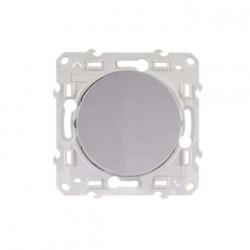 Interrupteur poussoir Odace couleur Aluminium Schneider Electric