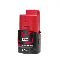 Batterie MILWAUKEE M12 B2 REDLITHIUM Li-Ion 2.0Ah 4932430064
