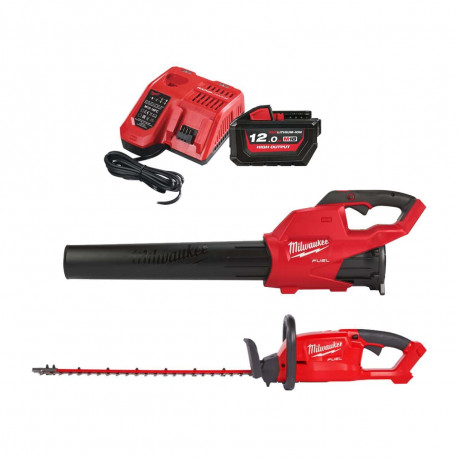 Pack automne MILWAUKEE M18 souffleur FBL-0 - taille-haies CHT-0 - 1 batterie 18V 12Ah - 1 chargeur M12-M18C