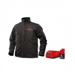 Veste chauffante noire Milwaukee M12 HJ BL3-0 taille L 4933451588 - Batterie M12 2.0Ah et chargeur C12C 4933451900