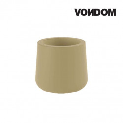 Pot VONDOM Modèle ULM - Ecru mat - 57cm