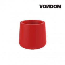 Pot VONDOM Modèle ULM - Rouge mat - 57cm