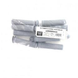 Pack de 10 Tamis à cone centreur BATIFIX diamètre 20 x 85mm