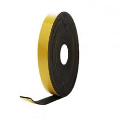 Mousse noire adhésive caoutchouc epdm 20x4mm longueur 10m