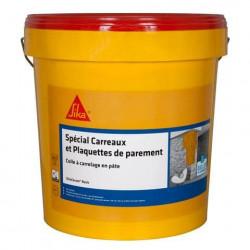 Colle à carrelage en pâte pour carreaux et plaquette de parement (D1-ET) - SIKA SikaCeram Basic - Ivoire - 25kg