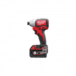 Visseuse à chocs compacte MILWAUKEE M18 Brushless BLID-502C - 2 batteries 18V 5.0Ah - 1 chargeur M12-18FC 4933448457