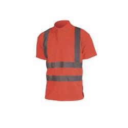 Polo haute visibilité - Manches courtes - Rouge fluo - 4XL