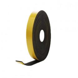 Mousse noire adhésive caoutchouc epdm 20x5mm longueur 10m