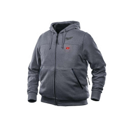 Sweat chauffant Milwaukee M12 HHGREY3-0 Taille M 4933464353 sans batterie ni chargeur