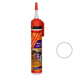 Mastic-colle multi-usages et multi-supports sans pistolet - SIKA Sikaflex 11 FC+ - Blanc - 260g