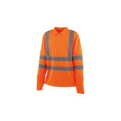 Polo haute visibilité CEPOVETT - Manches longues - Orange fluo - S