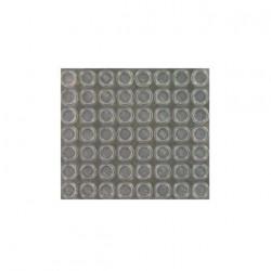 Plaque de 56 butées adhésives 3M SJ5312T transparentes H3.5 x D12.7 mm x 5