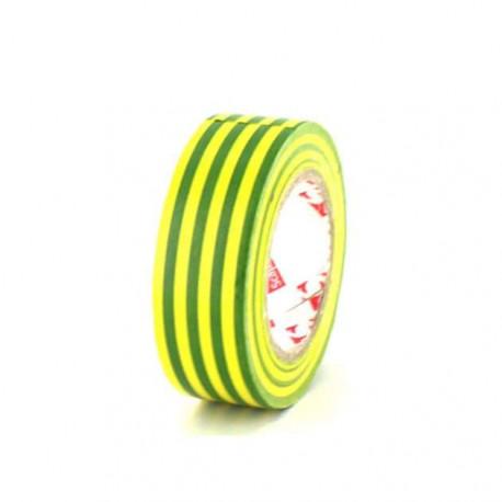 Ruban adhésif 15 mm PVC électrique Scapa 2702 jaune et vert