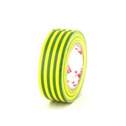 Ruban adhésif 15 mm PVC électrique Scapa 2702 jaune et vert x 5