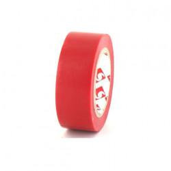 Ruban adhésif 19 mm PVC électrique Scapa 2702 rouge x 5