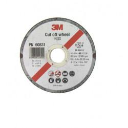 Disque 3M à tronçonner Inox diamètre 115 x 1,6 mm épaisseur x10