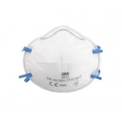 Masque 3M 8810 anti-poussières FFP2 sans soupape x 10
