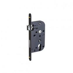Serrure mono-point à encastrer avec trou cylindre et axe de 50 mm couleur noir Klose Besser