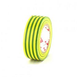 Ruban adhésif 19 mm PVC électrique Scapa 2702 jaune et vert x 5