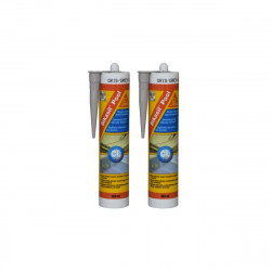 Lot de 2 mastic silicone SIKA Sikasil Pool - Gris - 300ml