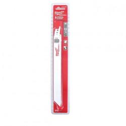Pack de 5 lames de scie sabre bi-metal/co 200 mm MILWAUKEE SAWZALL 8/12 TPI 48005093