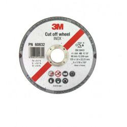 Disque 3M à tronçonner Inox diamètre 125 x 1,6 mm épaisseur x 10