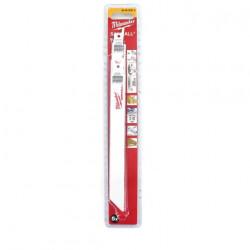 Pack de 5 lames de scie sabre bi-metal/co 200 mm MILWAUKEE SAWZALL 10/14 TPI 48005293