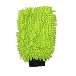 Gant de lavage microfibre double face vert