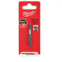 Embout Torx MILWAUKEE TX20 50mm SHOCKWAVE 4932352442