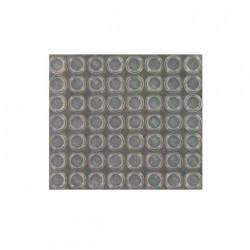 Plaque de 56 butées adhésives 3M SJ5312T transparentes H3.5 x D12.7mm