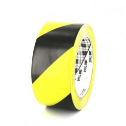 Ruban adhésif vinyle 3M 766 jaune et noir 50mm x 5