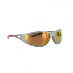 Lunettes de soleil FREELUX LUX OPTICAL Argent mat rouge miroir Catégorie 3