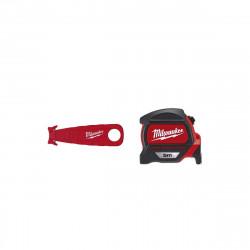 Pack MILWAUKEE Mètre ruban magnétique premium 5m - Cutter de sécurité