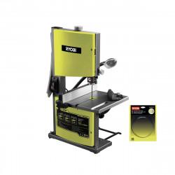 Pack RYOBI scie à ruban stationnaire 350W - 230mm RBS904 - lame coupe moyen pour scie à ruban RAKBS6TPI
