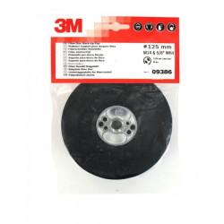 Plateau 3M lisse support pour disques fibre M14 diamètre 125 mm
