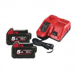 Pack NRJ Milwaukee 18V 5.0Ah 2 batteries 18V 5.0Ah 1 chargeur M12-18FC - 1 batterie M12 2.0Ah OFFERTE 4933459217