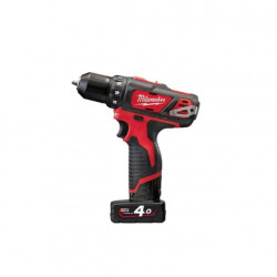 Perceuse visseuse MILWAUKEE M12 BDD-402C - 2 batteries 12V Li-Ion 4.0Ah - 1 chargeur 4933441925