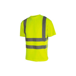 T-shirt haute visibilité - Manches courtes - Jaune fluo - 3XL