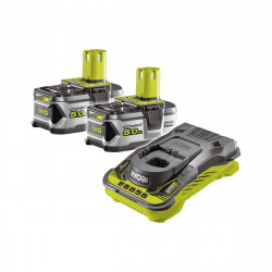 Pack 2 batteries RYOBI 18V OnePlus 5.0 Ah LithiumPlus - 1 chargeur ultra rapide 5.0 Ah RC18150-250