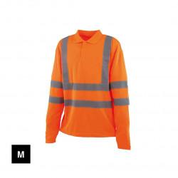 Polo haute visibilité - Manches longues - Orange fluo - M